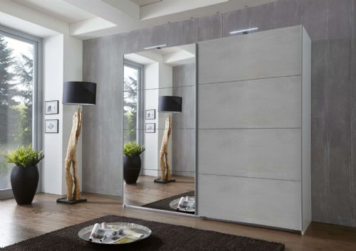 Alfor Grey Sliding Wardrobe - 2959